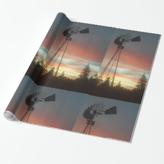 Windmill Sunsey Wrapping Paper