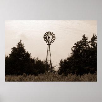 Windmill, Viersen Ranch Poster