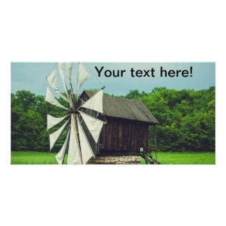Windmill, Village Museum Sibiu Custom Photo Card