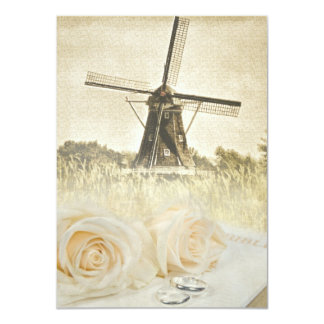Windmill Wedding Invitation