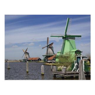 Windmill, Zaanse Schans, Holland, Netherlands 2 Postcard