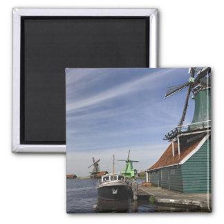 Windmill, Zaanse Schans, Holland, Netherlands Square Magnet
