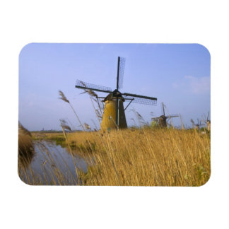 Windmills along the canal in Kinderdijk, 2 Magnets