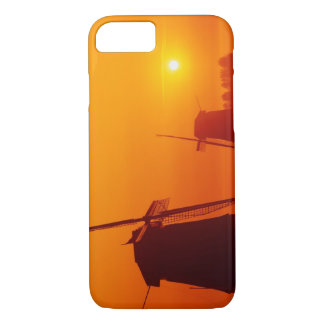 Windmills at sunset, Schermerhorn, Netherlands iPhone 7 Case