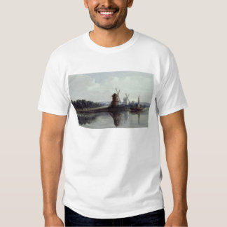 Windmills by a River, 19th century Shirt