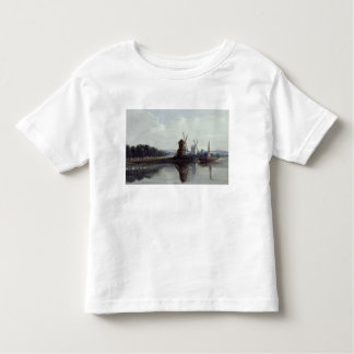 Windmills by a River, 19th century T-shirts