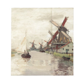 Windmills in Holland by Claude Monet Notepad