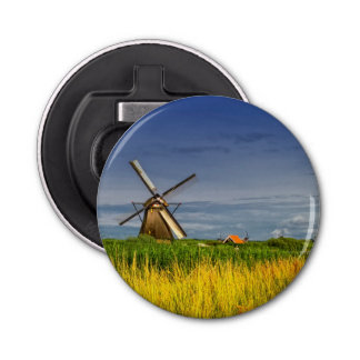 Windmills in Kinderdijk, Holland, Netherlands Bottle Opener