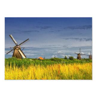 Windmills in Kinderdijk, Holland, Netherlands Card