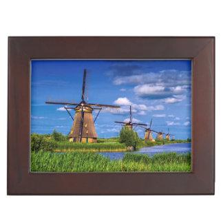 Windmills in Kinderdijk, Holland, Netherlands Keepsake Box