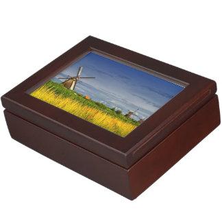 Windmills in Kinderdijk, Holland, Netherlands Keepsake Boxes