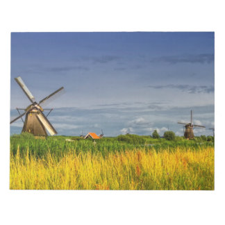 Windmills in Kinderdijk, Holland, Netherlands Notepad