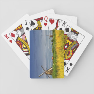 Windmills in Kinderdijk, Holland, Netherlands Playing Cards