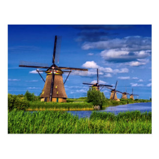 Windmills in Kinderdijk, Holland, Netherlands Postcard