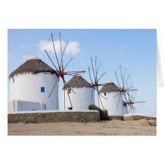 Windmills in Mykonos Card