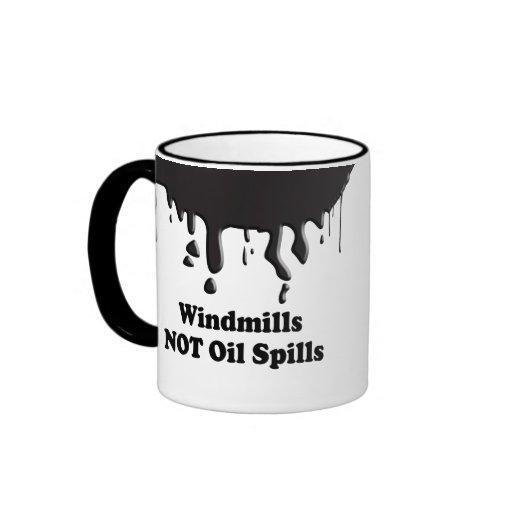 WINDMILLS NOT OIL SPILLS MUG