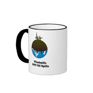 WINDMILLS NOT OIL SPILLS RINGER MUG