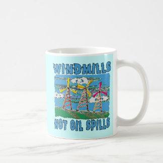 Windmills Not Oil Spills Tshirts Basic White Mug