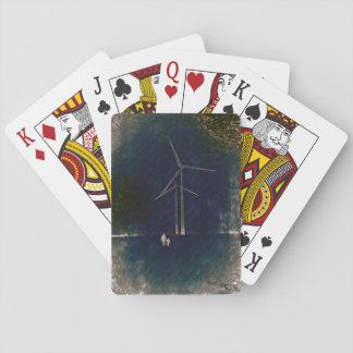 Windmills of Change Abstract Art Cards