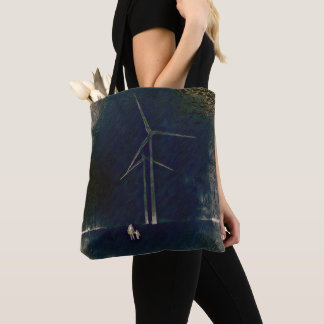 Windmills of Change Artistic Abstract Tote Bag