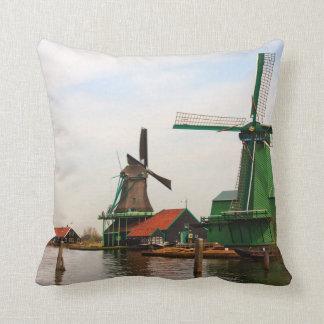 Windmills of Holland decorative pillow