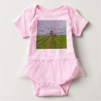 windmills of Kinderdijk world heritage site Baby Bodysuit