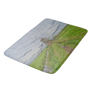 windmills of Kinderdijk world heritage site Bath Mats