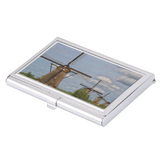windmills of Kinderdijk world heritage site Business Card Holder