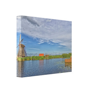 windmills of Kinderdijk world heritage site Canvas Print