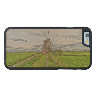 windmills of Kinderdijk world heritage site Carved Maple iPhone 6 Case
