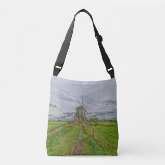windmills of Kinderdijk world heritage site Crossbody Bag