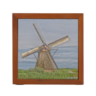 windmills of Kinderdijk world heritage site Desk Organiser