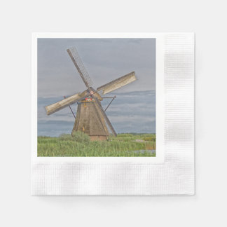 windmills of Kinderdijk world heritage site Disposable Serviette