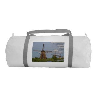 windmills of Kinderdijk world heritage site Gym Bag
