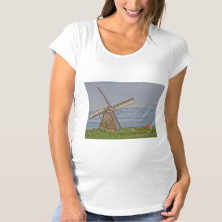 windmills of Kinderdijk world heritage site Maternity T-Shirt