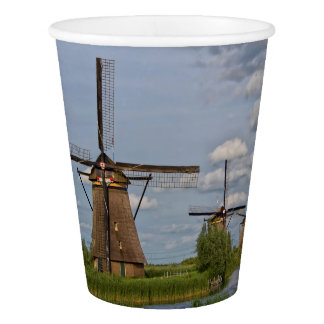 windmills of Kinderdijk world heritage site Paper Cup