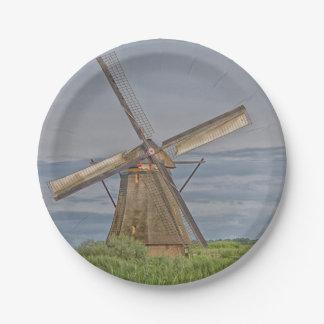 windmills of Kinderdijk world heritage site Paper Plate