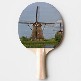 windmills of Kinderdijk world heritage site Ping Pong Paddle