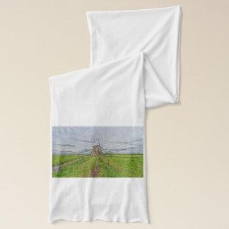 windmills of Kinderdijk world heritage site Scarf