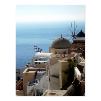 Windmills of Santorini Postcard