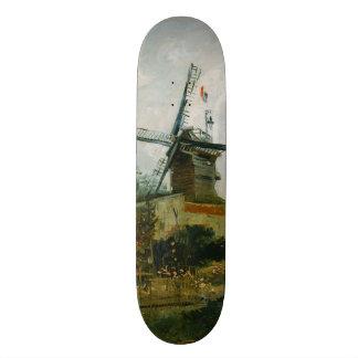 Windmills on Montmartre by Vincent Van Gogh Skateboard Deck