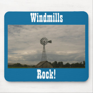 Windmills Rock! Mouse Pad