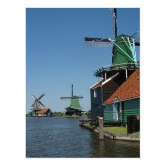 Windmills Zaanse Schans in Holland Postcard