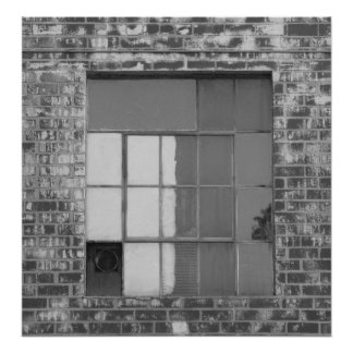 Window black and white photography poster