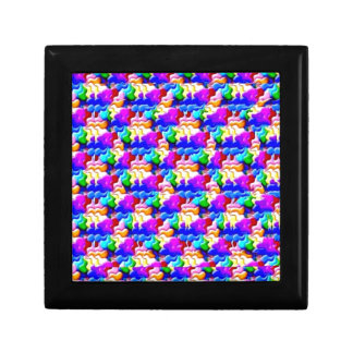 window butterfly stereogram small square gift box