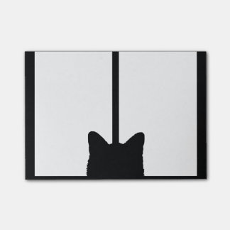 Window Cat Click to Customize Color Background Post-it® Notes
