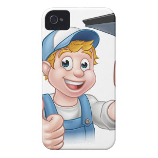 Window Cleaner Holding Squeegee iPhone 4 Cases