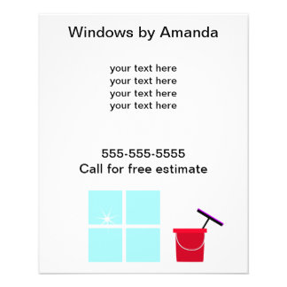Window Cleaning Promotional 11.5 Cm X 14 Cm Flyer