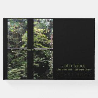 Window Cross on Nature Garden Memorial Guest Book