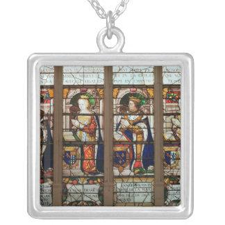 Window depicting Jacques de Bourbon Silver Plated Necklace